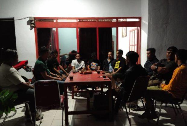 Suasana Rapat Bersama HMI,Camat Bangkala, KAPOLSEK Bangkala,AMUBA & Panitia